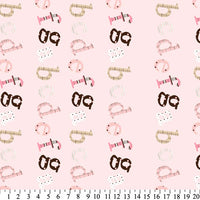 Premium Anti-Pill ABC Wiggly Stripe Pink Fleece 253