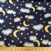 Clouds Moon Stars Fleece 247