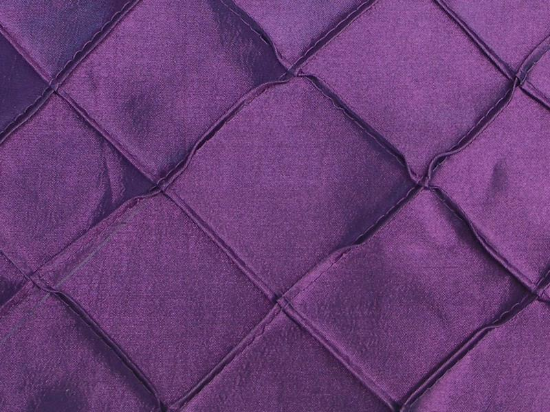 Taffeta Diamond Pintuck PURPLE 2""