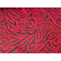 Zebra Red Black Fleece 301