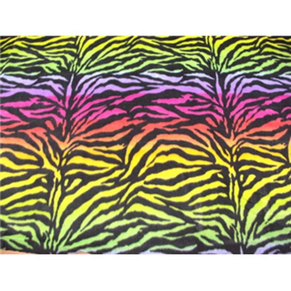 Zebra Rainbow Fleece 309