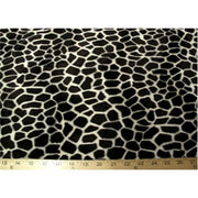 Velboa Animal Skins Fur Giraffe Black