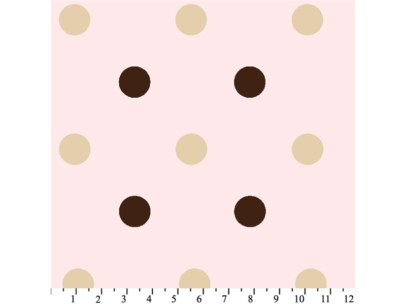 Anti-Pill Big Polka Dot Pink Fleece 311