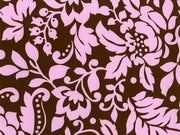 Anti-Pill Graphic Flower Brown Pink Fleece 312