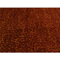 Anti-Pill Brown Red Leopard Fleece 399