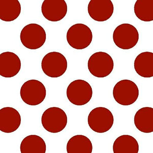 Anti-Pill Med Dots Red Fleece 331