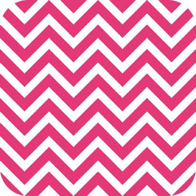 Chevron Charmeuse Satin FUCHSIA WHITE SP-14