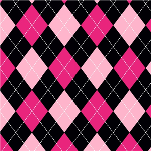 Premium Anti-Pill Classic Argyle Pink Fleece 366