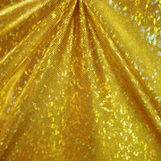 Metallic Hologram Foil Spandex GOLD