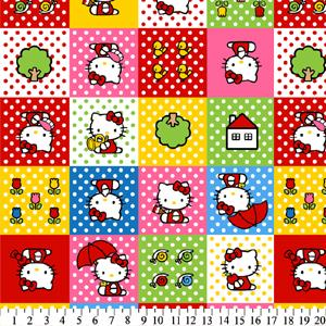 Anti-Pill Hello Kitty Patches Fleece 393
