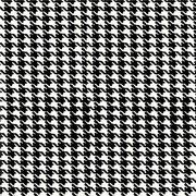 Anti-Pill Houndstooth Black White Fleece 432