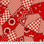 Premium Anti-Pill Bandanas Red Fleece 433
