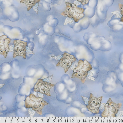 Premium Anti-Pill American Greetings Angel Kittens Fleece 459