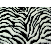 SWATCHES Zebra Long Pile Minky Fur