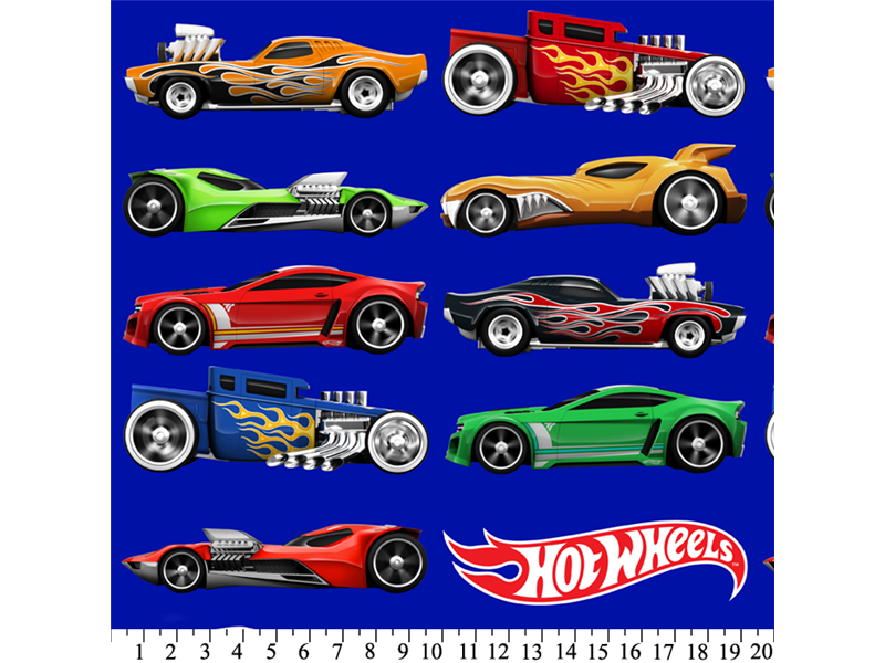 "Anti-Pill Hot Wheels Cars Fleece A58 ""LAST PIECE MEASURES 1 YARD 10 INCHES"""