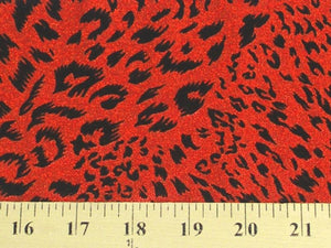 Flocking Foil Spandex RED CAT