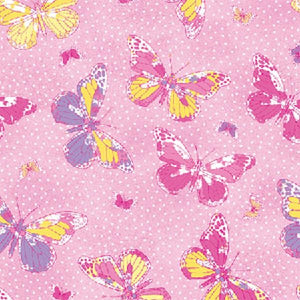 Premium Anti-Pill Butterfly Hot Pink Fleece 531