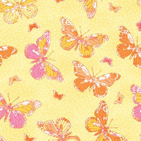 Premium Anti-Pill Butterfly Yellow Fleece 533