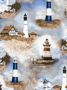Premium Anti-Pill Lighthouses Fleece 537