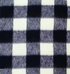 Anti-Pill Buffalo Plaid Black White Fleece 541