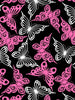 Premium Anti-Pill Butterfly Pink Fuchsia Fleece 55