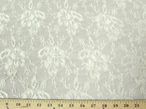 Flower Stretch Lace IVORY SL-4