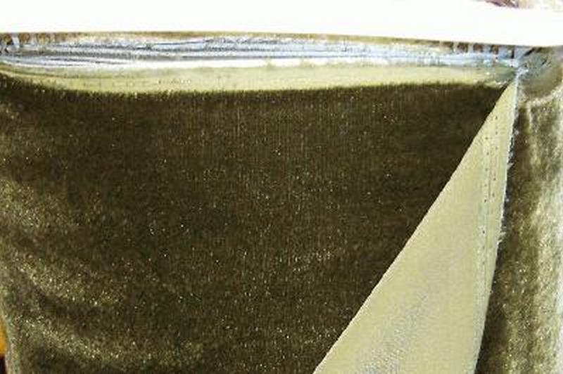 "Plush Silk Velvet 44"" Wide OLIVE GREEN"