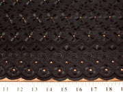 Eyelet Embroidery Black EL-4