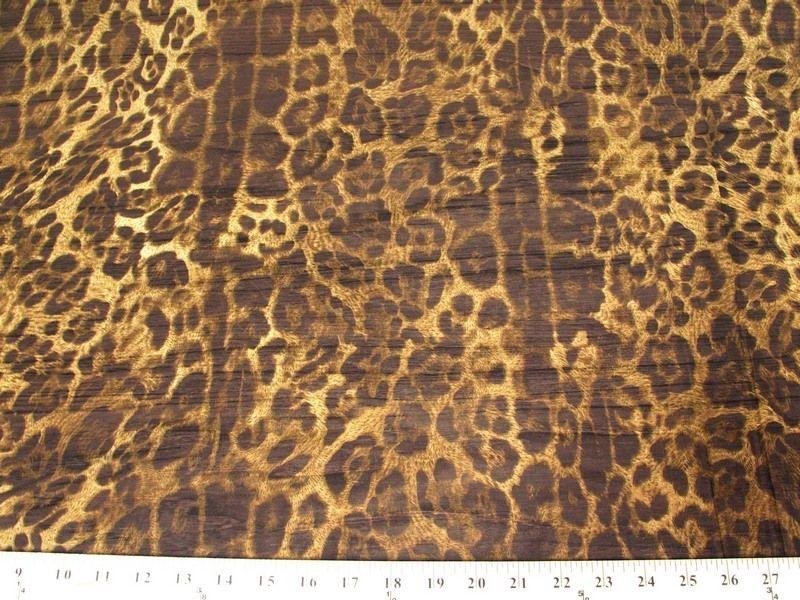 Printed Chiffon LEOPARD TAN BROWN
