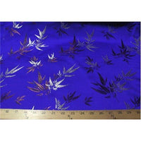 Chinese Bamboo Brocade Royal Blue
