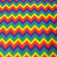 RAINBOW ZIG ZAG SP-35 SPANDEX LYCRA FABRIC $11.99/YARD
