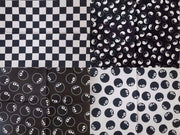 Checkered & 8 Ball Print Bandanas