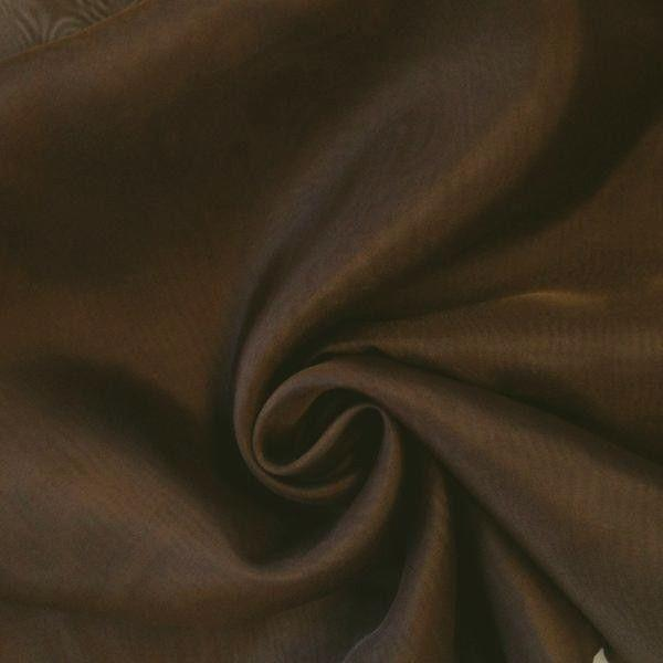 "Voile 120"" Wide Sheer Fire Retardant NFPA 701 Brown VL-7"