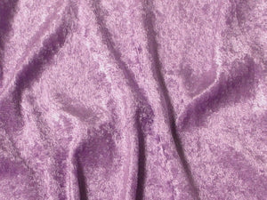 Crushed Panne Velour Velvet Lilac