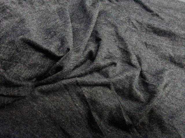 Rayon Jersey Knit TWO TONE CHARCOAL