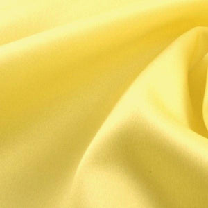"China Faux Silk Habotai 58"" Wide Light Yellow HB-21"