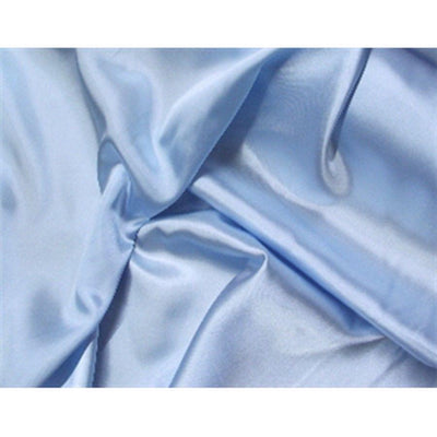Stretch Charmeuse Satin Baby Blue