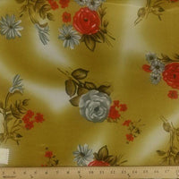 Koshibo Prints Mustard Red Rose KO-4