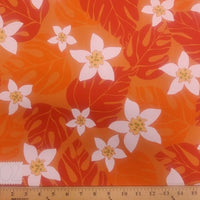 SWATCHES Orange Hawaiian Floral Prints