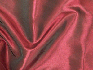 Two Tone Dress Taffeta Wine