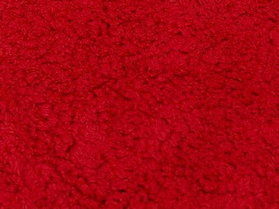 Minky Sherpa Lambs Wool Red