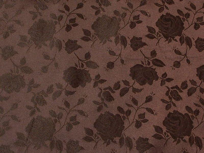 Floral Satin Brocade Brown