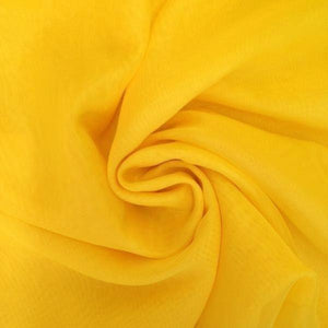 "Voile 120"" Wide Sheer Fire Retardant NFPA 701 Yellow VL-6"