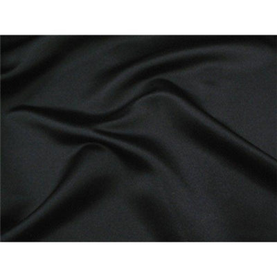 Stretch Heavy Weight Lamour Dull Satin BLACK SLS-5