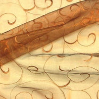 Embroidered Organza COPPER