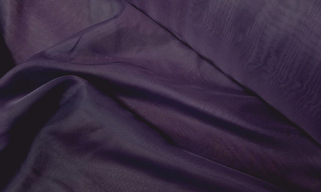 "Voile 120"" Wide Sheer Fire Retardant NFPA 701 Plum VL-20"