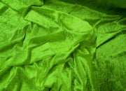 Crushed Panne Velour Velvet Lime