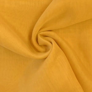 "Voile 120"" Wide Sheer Fire Retardant NFPA 701 Dark Gold VL-5"