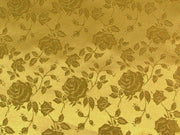 Floral Satin Brocade Gold