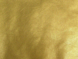 Upholstery Metallic Faux Leather Gold